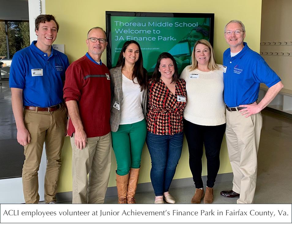ACLI Volunteer at Junior Achievement